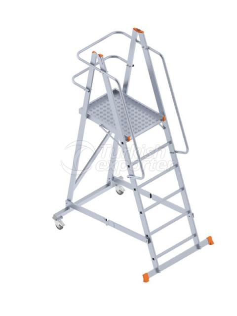 FOLDABLE WHEELED PLATFORM LADDER